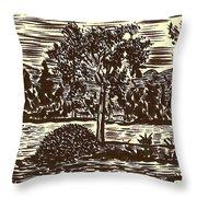 Lake Leek Throw Pillow by Al Goldfarb
