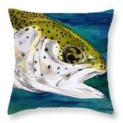 Lake Leopard Throw Pillow