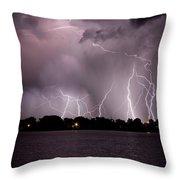 Lake Lightning 2 Throw Pillow