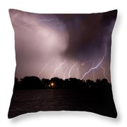 Lake Lightning 3 Throw Pillow