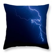 Lake Lightning Strike Throw Pillow