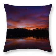 Lake Logan Sunset, Ohio Throw Pillow
