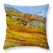 Lake Los Angeles Evening Somg Throw Pillow
