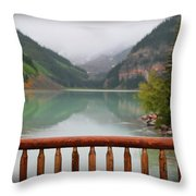 Lake Louise At Dawn Throw Pillow