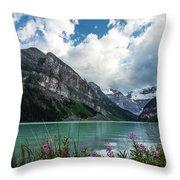 Lake Louise Day One Throw Pillow
