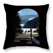Lake Louise Inside View Throw Pillow