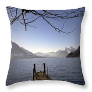 Lake Lucerne Throw Pillow