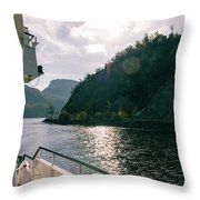 Lake Lucerne From A Boat  Throw Pillow