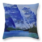 Lake Marine Throw Pillow