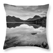 Lake Mcdonald Throw Pillow by Adam Mateo Fierro