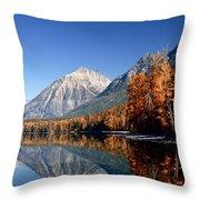 Lake Mcdonald Autumn Throw Pillow