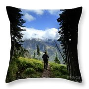 Lake Mcdonald From Mt Brown - Glacier National Park Throw Pillow