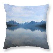 Lake Mcdonald Throw Pillow