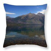 Lake Mcdonald Reflection Glacier National Park 2 Throw Pillow