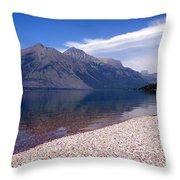 Lake Mcdonald Reflection Glacier National Park 4 Throw Pillow