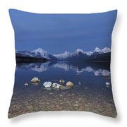Lake Mcdonald Rocks Throw Pillow