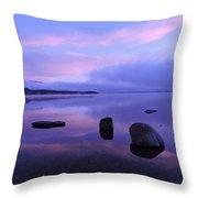 Lake Mcdonald Sunrise  Throw Pillow