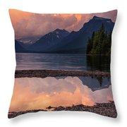 Lake Mcdonald Sunset Throw Pillow