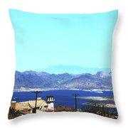 Lake Mead Las Vegas Throw Pillow
