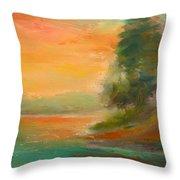 Lake Merced Throw Pillow