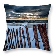 Lake Mi Sunset 15 Throw Pillow