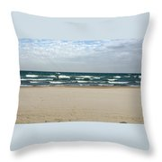 Lake Michigan 10.20.15 Throw Pillow