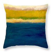 Lake Michigan Beach Abstracted Throw Pillow