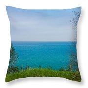 Lake Michigan In May Throw Pillow