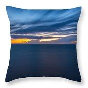 Lake Michigan Long Exposure  Throw Pillow