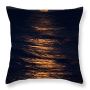 Lake Michigan Moonrise Throw Pillow