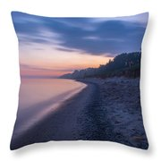 Lake Michigan Morning 2 Throw Pillow
