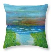 Lake Michigan Sunrise 02132016 Throw Pillow