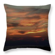 Lake Michigan Sunset Photograph Throw Pillow