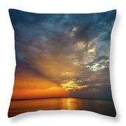 Lake Michigan Sunset Throw Pillow