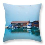 Lake Minnewanka Throw Pillow