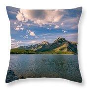 Lake Minnewanka Banff II Throw Pillow