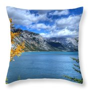 Lake Minnewanka Banff National Park Alberta Canada Throw Pillow