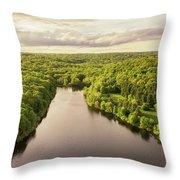 Lake Mohegan, Fairfield, Connecticut Throw Pillow