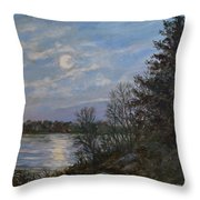 Lake Moonrise Throw Pillow
