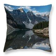 Lake Moraine Reflection Throw Pillow