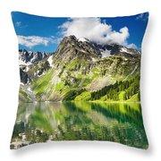 Lake Mountain Green Nature Landscape By Elvin Siew Chun Wai Throw Pillow