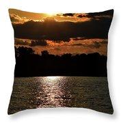 Lake Murray Golden Hour Throw Pillow