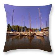 Lake Murray S C Marina Throw Pillow