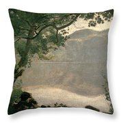 Lake Nemi Throw Pillow