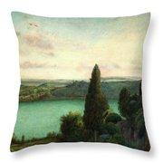 Lake Nemi Throw Pillow