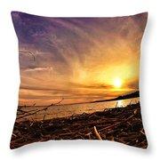 Lake Nipissing Sunset Callander Bay Throw Pillow