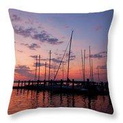 Lake Norman Sunset Throw Pillow