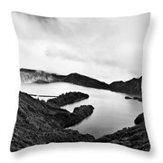 Lake Of Fire - Lagoa Do Fogo Throw Pillow