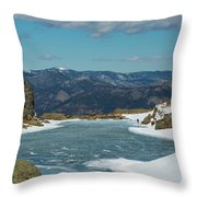 Lake Of Glass Winter Throw Pillow