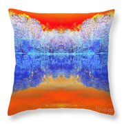 Lake Of Many Colors  Throw Pillow
